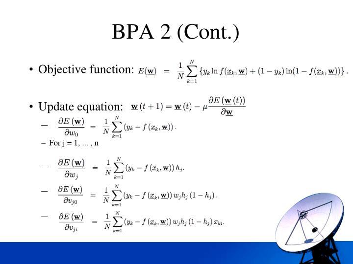 BPA 2 (Cont.)