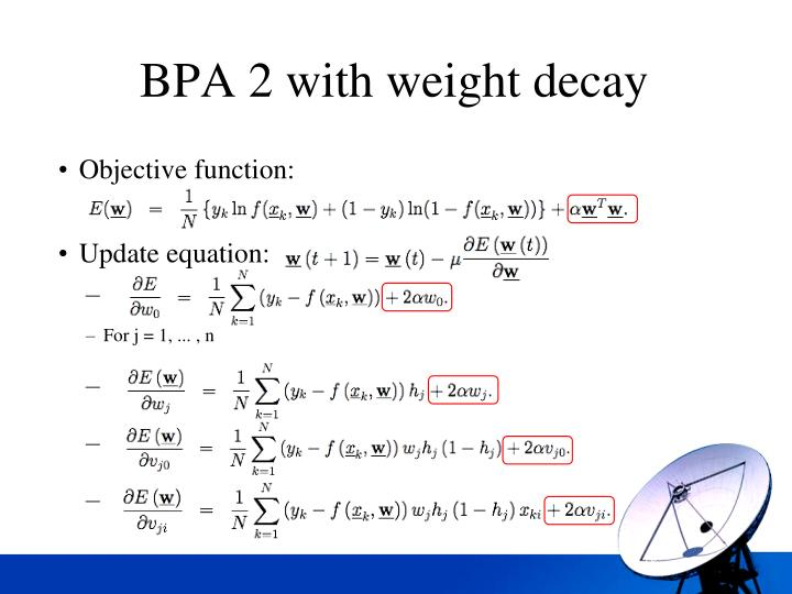 BPA 2 with weight decay