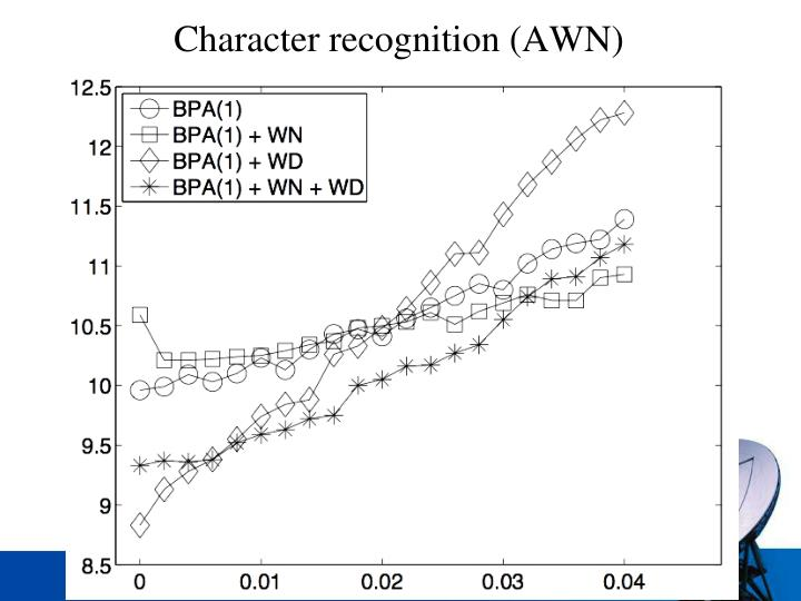 Character recognition (AWN)