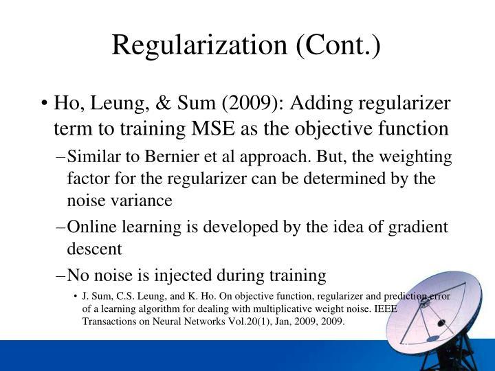 Regularization (Cont.)