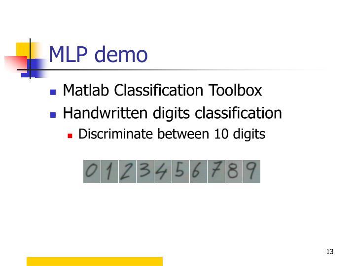 MLP demo