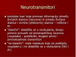 neurotransmitori