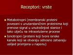 receptori vrste