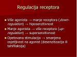 regulacija receptora