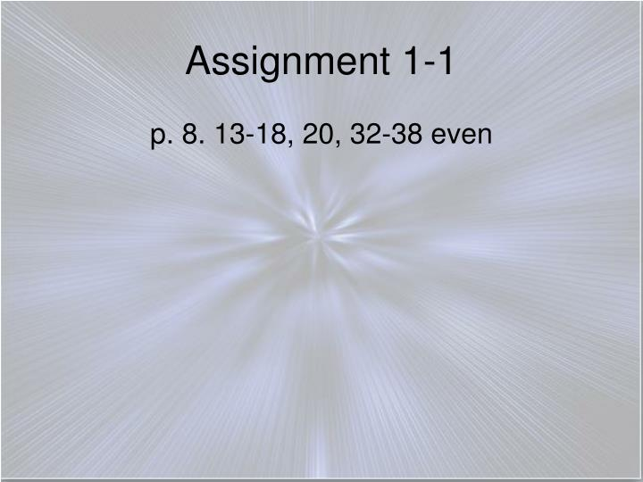 Assignment 1-1