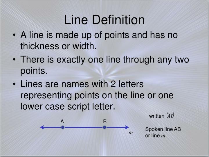 Line Definition