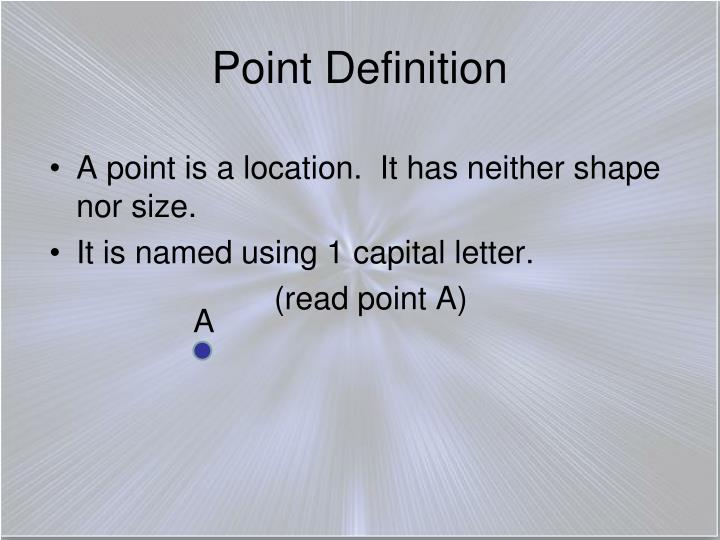 Point Definition