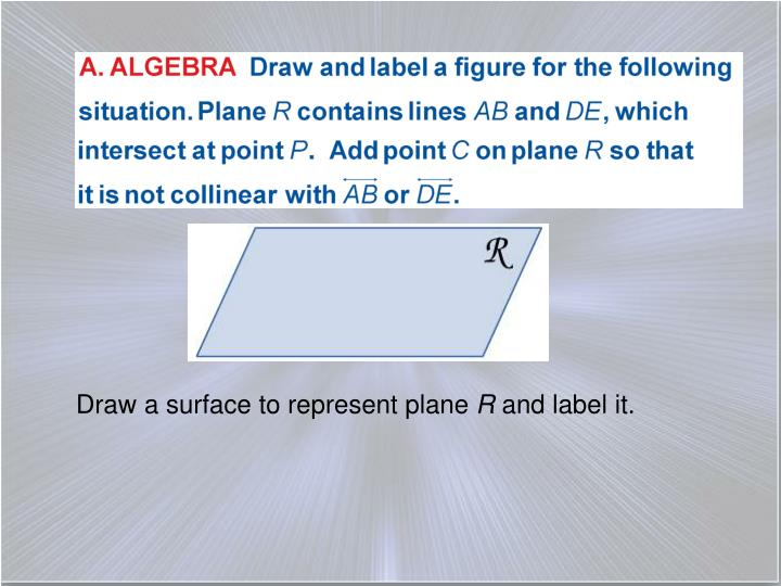 Draw a surface to represent plane
