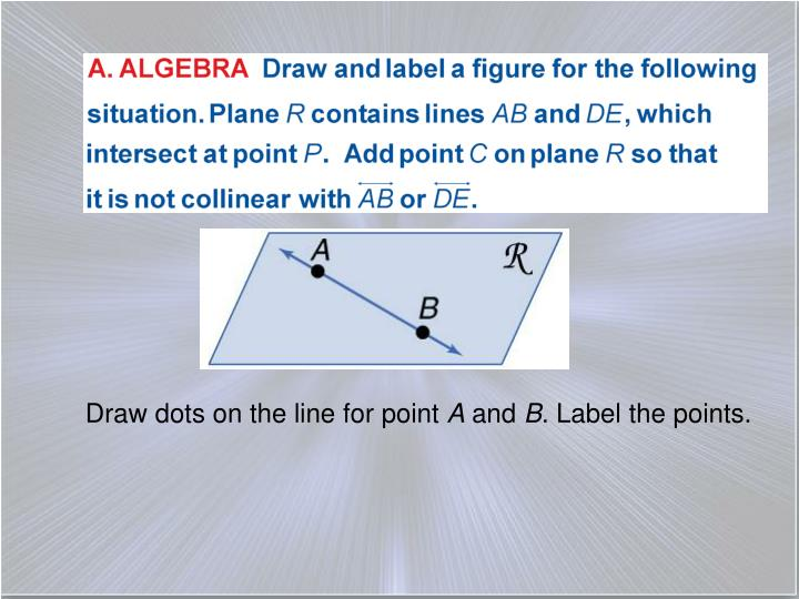 Draw dots on the line for point