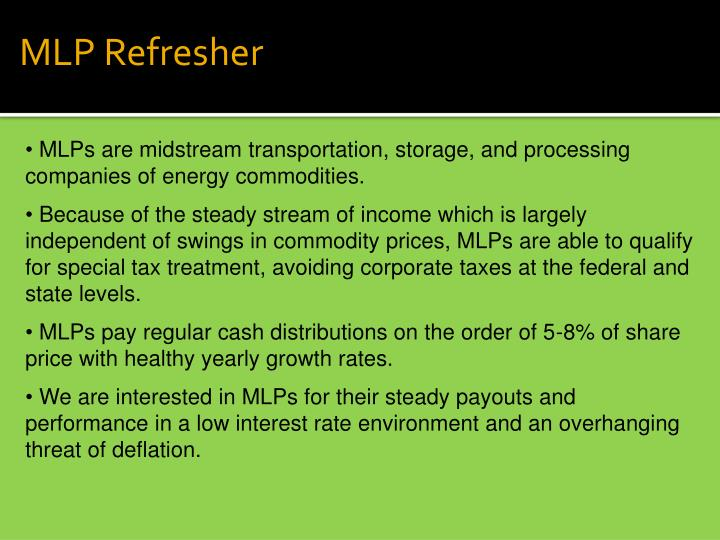 MLP Refresher