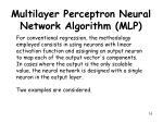 multilayer perceptron neural network algorithm mlp11