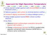 approach for high operation temperature