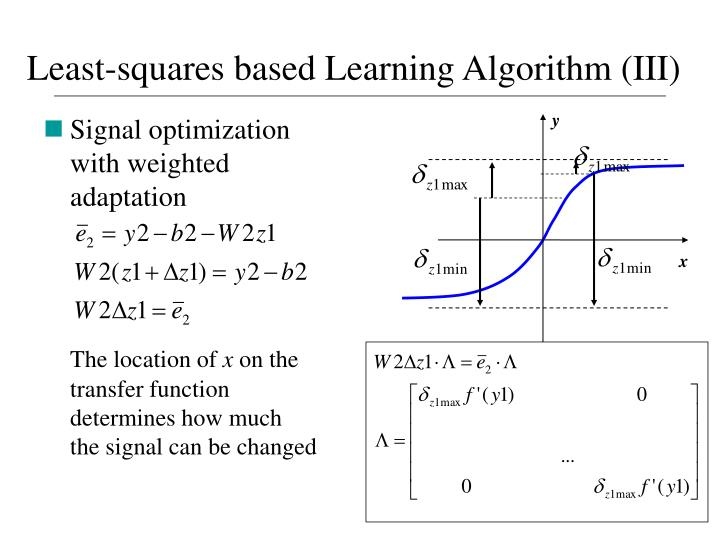 Least-squares based Learning Algorithm (III)