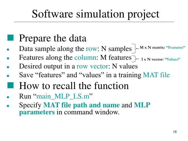 M x N matrix: