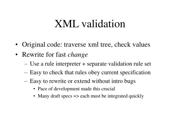 XML validation