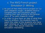 c the nvq french project simulation 2 writing