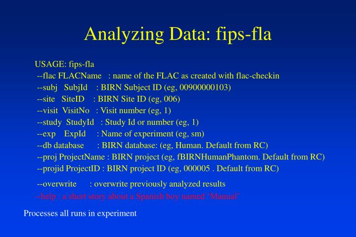 Analyzing Data: fips-fla