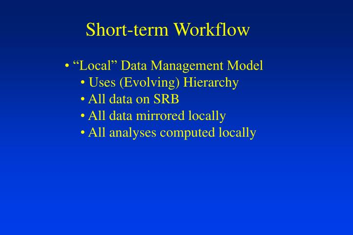 Short-term Workflow