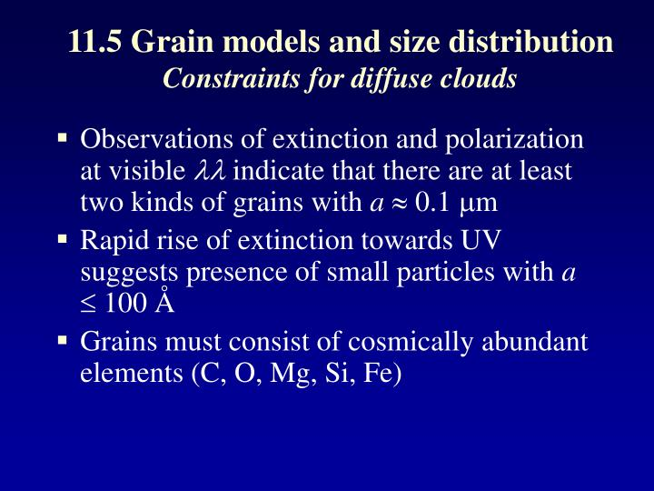 11.5 Grain models and size distribution