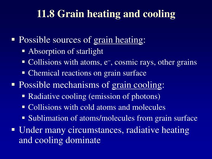11.8 Grain heating and cooling