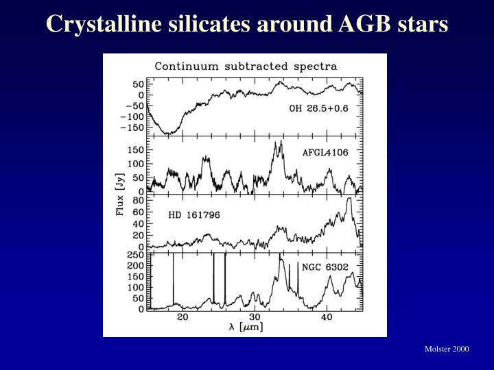 Crystalline silicates around AGB stars