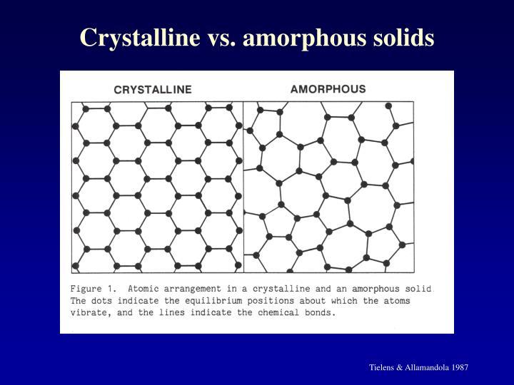 Crystalline vs. amorphous solids