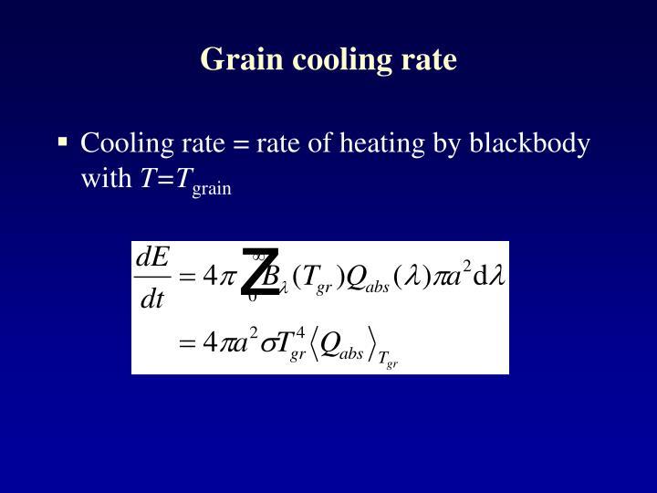 Grain cooling rate