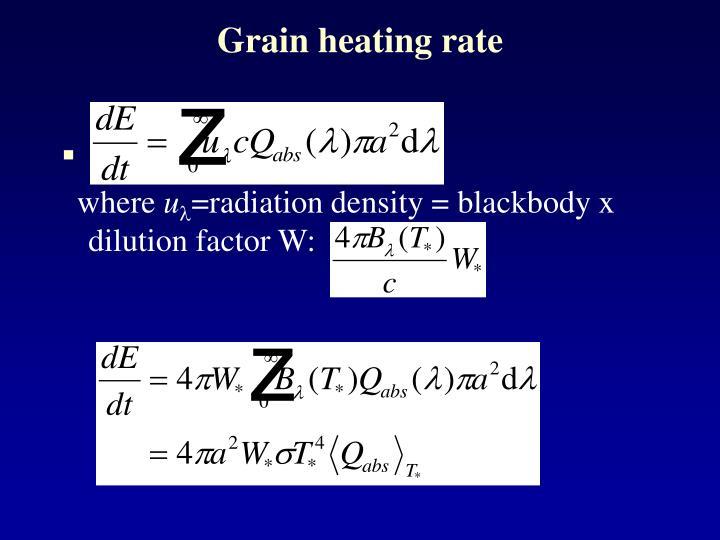 Grain heating rate