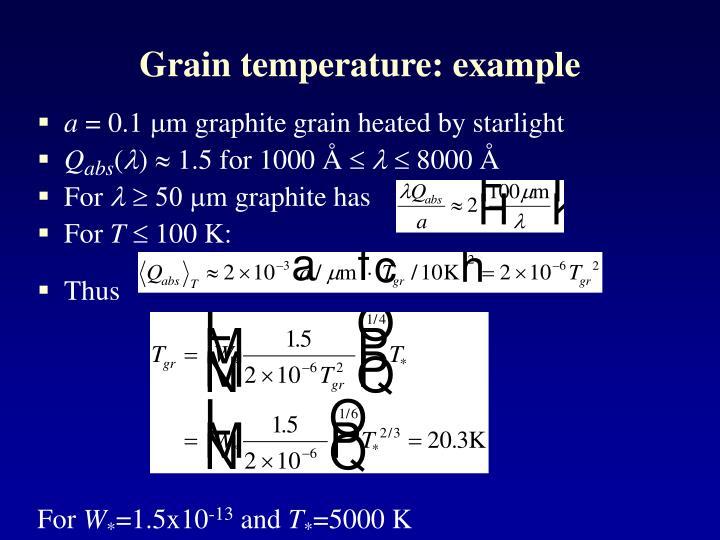 Grain temperature: example