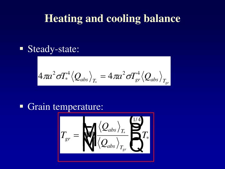 Heating and cooling balance