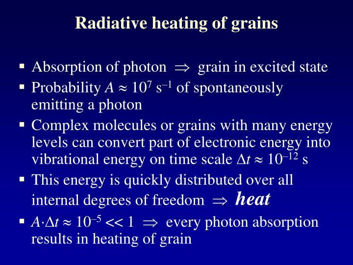 Radiative heating of grains