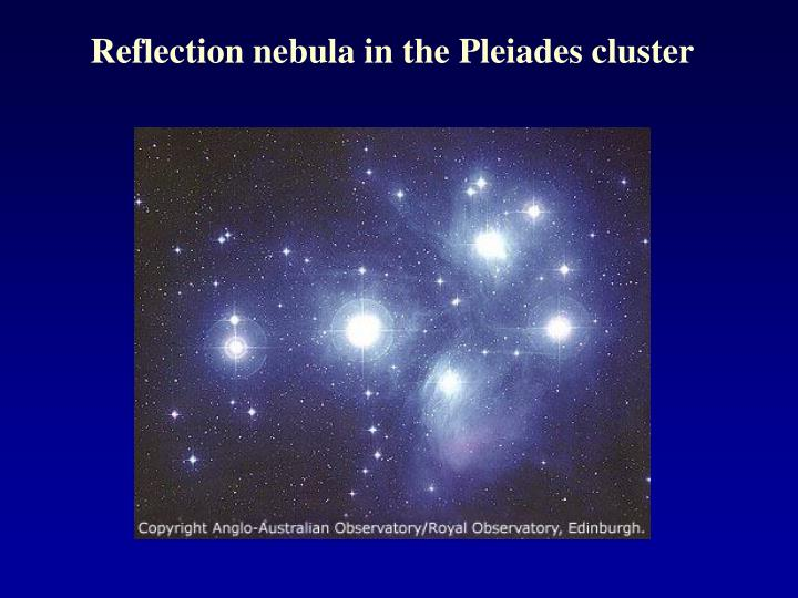 Reflection nebula in the Pleiades cluster