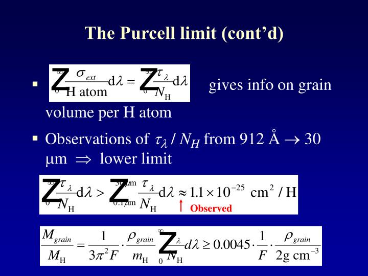 The Purcell limit (cont'd)