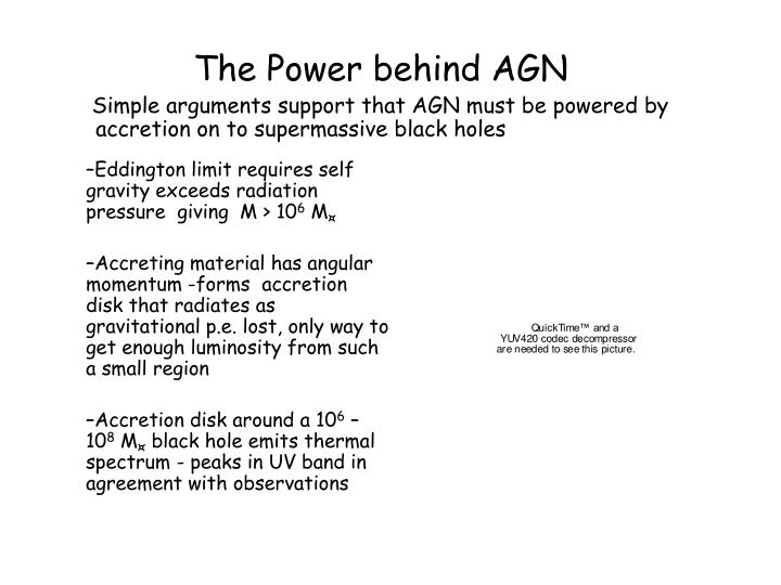 Simple arguments support that AGN must be powered by accretion on to supermassive black holes