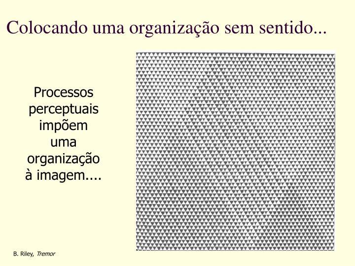 Colocando uma organização sem sentido...