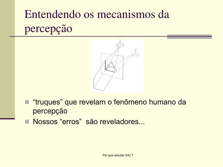 Entendendo os mecanismos da percepção