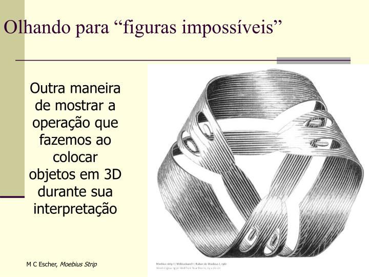 """Olhando para """"figuras impossíveis"""""""
