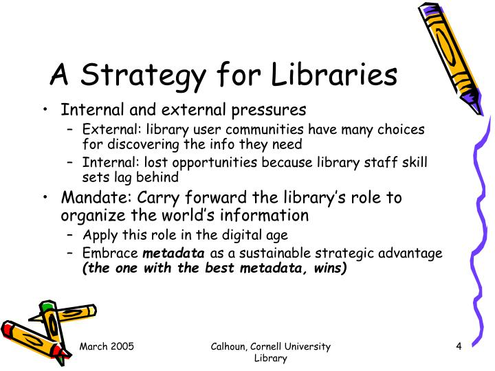 A Strategy for Libraries