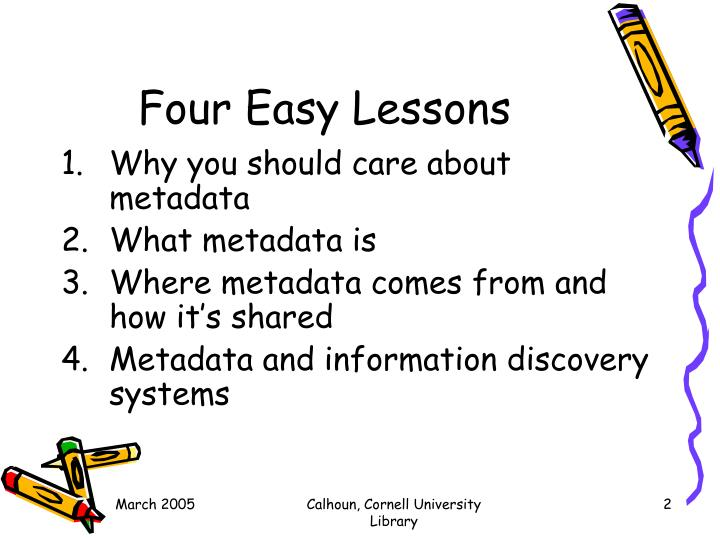 Four easy lessons