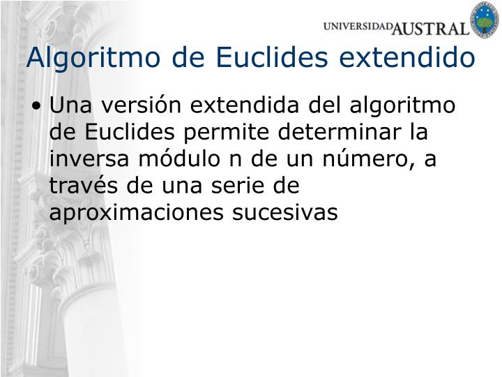 Algoritmo de Euclides extendido