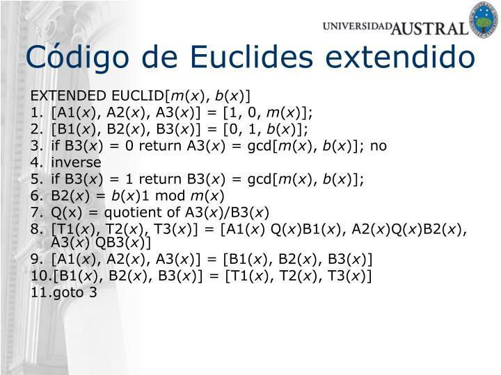 Código de Euclides extendido