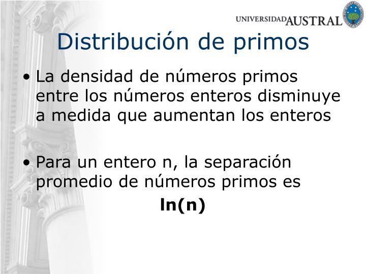 Distribución de primos