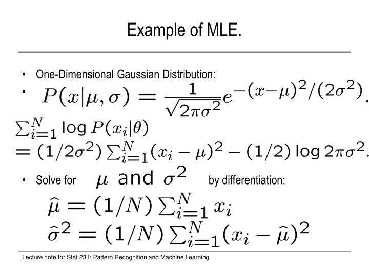 Example of MLE.