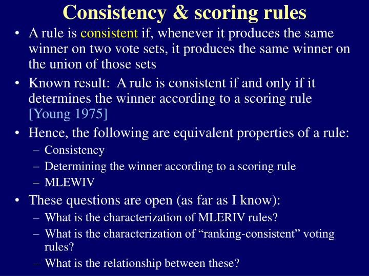 Consistency & scoring rules