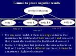 lemma to prove negative results