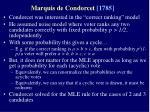 marquis de condorcet 1785
