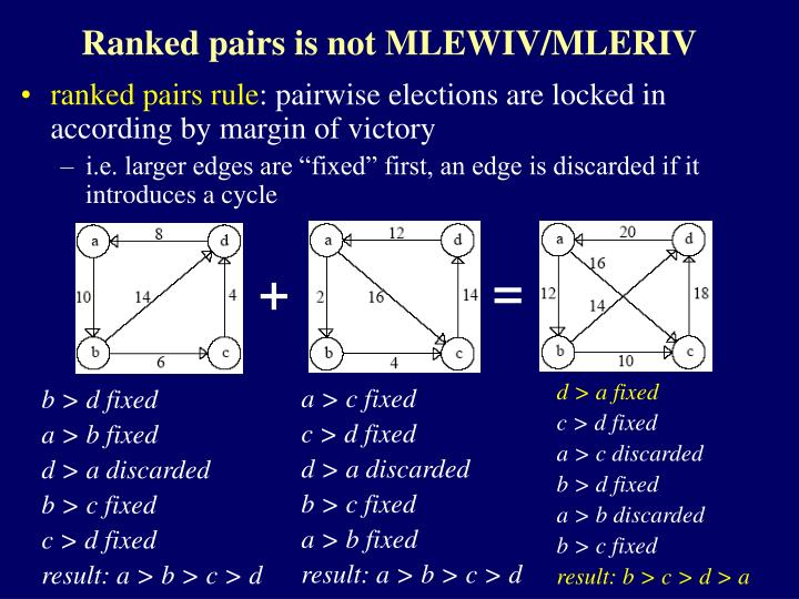 Ranked pairs is not MLEWIV/MLERIV