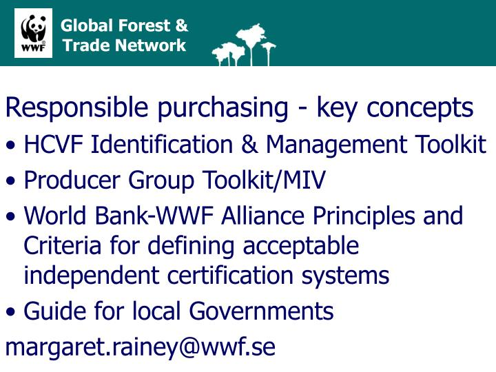 Responsible purchasing - key concepts