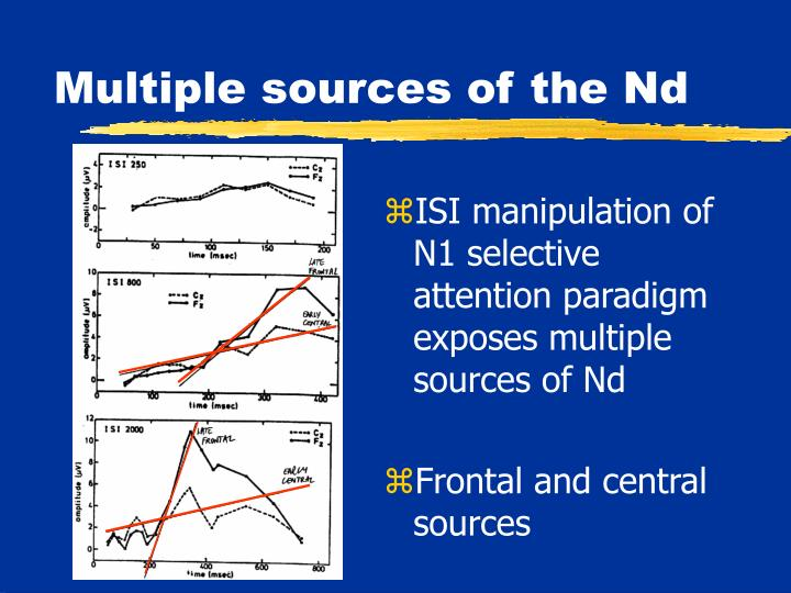 Multiple sources of the Nd