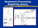naatanen s processing negativity theory
